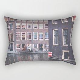 Red Light Canal Rectangular Pillow