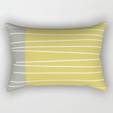 MId century modern textured stripes Rectangular Pillow