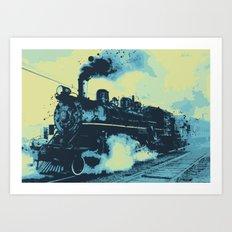 Morning train 1946 Art Print