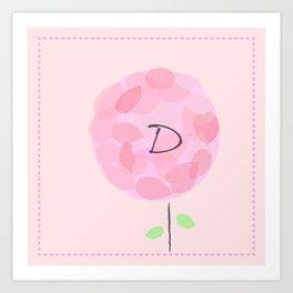 Flower D Art Print