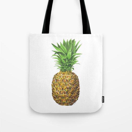Pineapple, tropical fruit Tote Bag