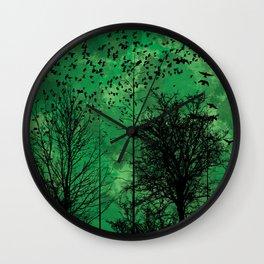 Turning Green Wall Clock