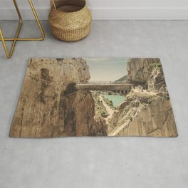 """""""The most dangerous trail in the world"""". El Caminito del Rey Rug"""