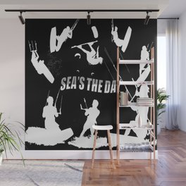 Seas The Day Kitesurfing Wall Mural