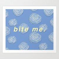 bite me. (patterned) Art Print