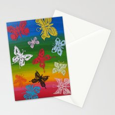 colorful Butterflies (1) Stationery Cards