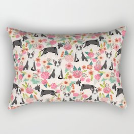 Bull Terrier floral dog breed gifts pet pattern by pet friendly bull terriers Rectangular Pillow