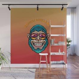 Happiest gorilla alive Wall Mural