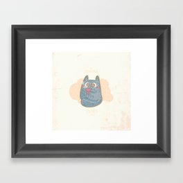 Teaparty with Cat Framed Art Print