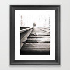 railroad flower  Framed Art Print