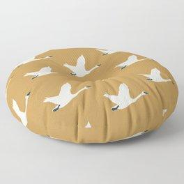 Tundra Swan (Mustard) Floor Pillow