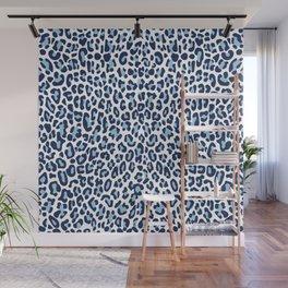 Blue Leopard Skin Wall Mural