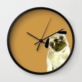 Sitting Pug Wall Clock