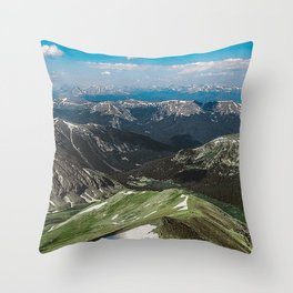 Summit the 14er Throw Pillow