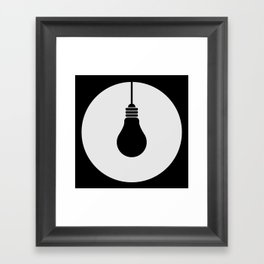 Daylight Dims Logo Framed Art Print
