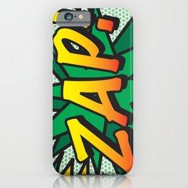 ZAP Comic Book Flash Cool Fun Modern Pop Art  iPhone Case