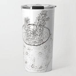 Succulents in teapot Travel Mug