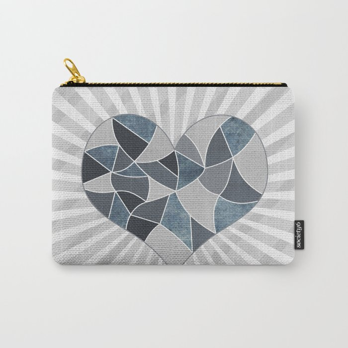 Heart . Patchwork .2 Carry-All Pouch