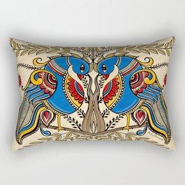 The Gemini peacock  Rectangular Pillow