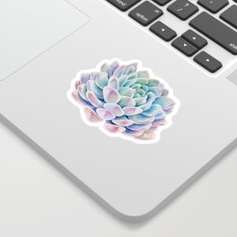 succulent watercolor 11 Sticker