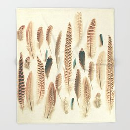 Found Feathers Throw Blanket