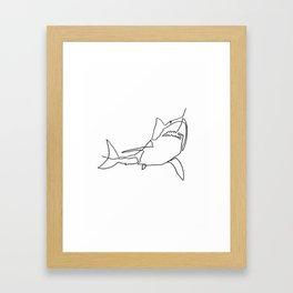 Great White Shark (white) Framed Art Print