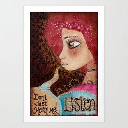 Listen Art Print