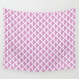 Modern Abstract Girly Pink White Geometric Pattern Wall Tapestry