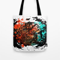 mars Tote Bags featuring Mars by DizzyNicky