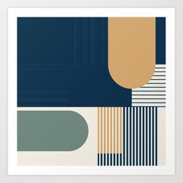 Cool Color Pallette Pattern Art Print