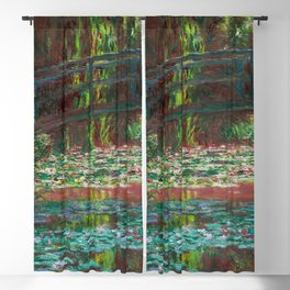 """Claude Monet """"Water Lily Pond"""" Blackout Curtain"""