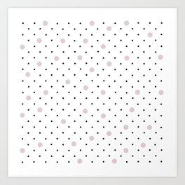 Pin Points Polka Dot Pink Art Print