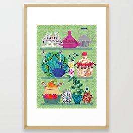 Orientl helf Framed Art Print
