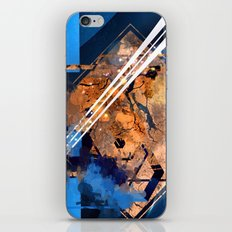 Abstraction, Orange and Blue iPhone & iPod Skin
