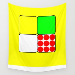 Tour de France Jerseys 3 Yellow Wall Tapestry