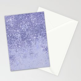 Elegant girly lavender faux glitter marble pattern Stationery Cards