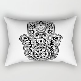 Black and White Hamsa Hand Rectangular Pillow