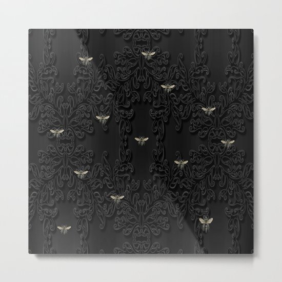 Black Bees Metal Print