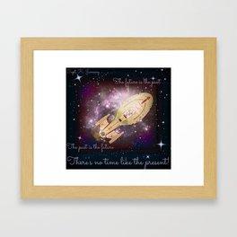 """No Time Like the Present"" Capt. Janeway, Voyager  Framed Art Print"
