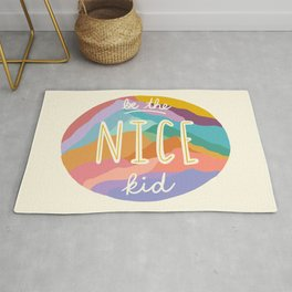 """""""Be the Nice Kid"""" Colorful Mountains Rug"""