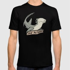 Introducing Bonnie - Hammerhead from Sharktopia Black MEDIUM Mens Fitted Tee