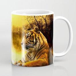 Tiger and Sunset Coffee Mug