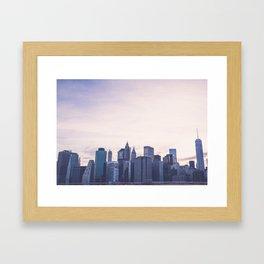 Lower Manhattan Skyline Framed Art Print