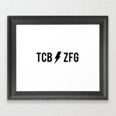 TAKING CARE OF BUSINESS//ZERO F***S GIVEN Framed Art Print