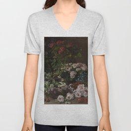 Claude Monet - Spring Flowers.jpg Unisex V-Neck