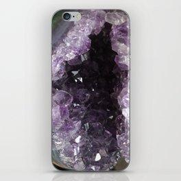 Amethyst Crystal Geode Sphere iPhone Skin