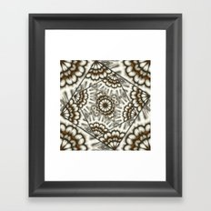 Abstract bold fans in brown and beige Framed Art Print