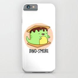 Dinosmore Cute Smore Dinosaur Pun iPhone Case