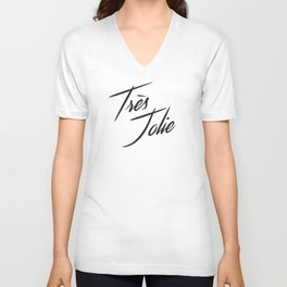 """Très Jolie"" by Ashley Crawley Unisex V-Neck"