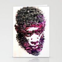tyler the creator Stationery Cards featuring OBSCENE (Tyler the Creator) by Monica Diaz